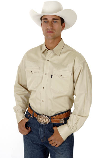 Roper mens cotton long sleeve snap cowboy shirt for Snap tab collar shirt