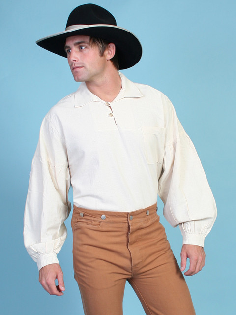 scully u00ae mens natural pullover full sleeve old west shirt