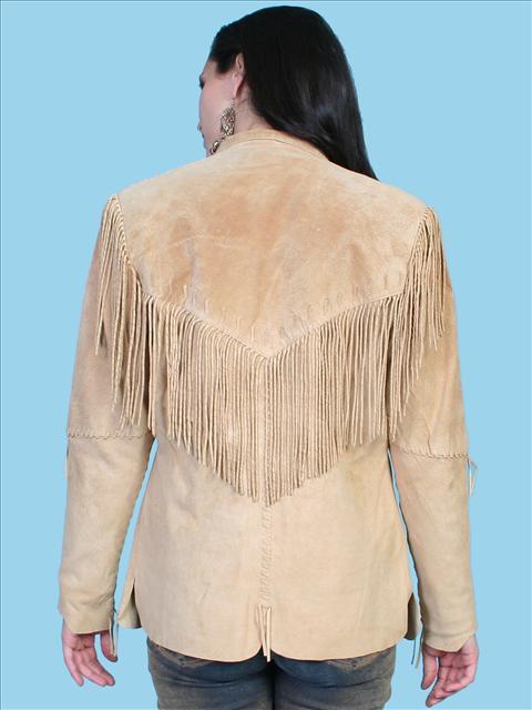 Womens Western Jacket Mountain Fringe