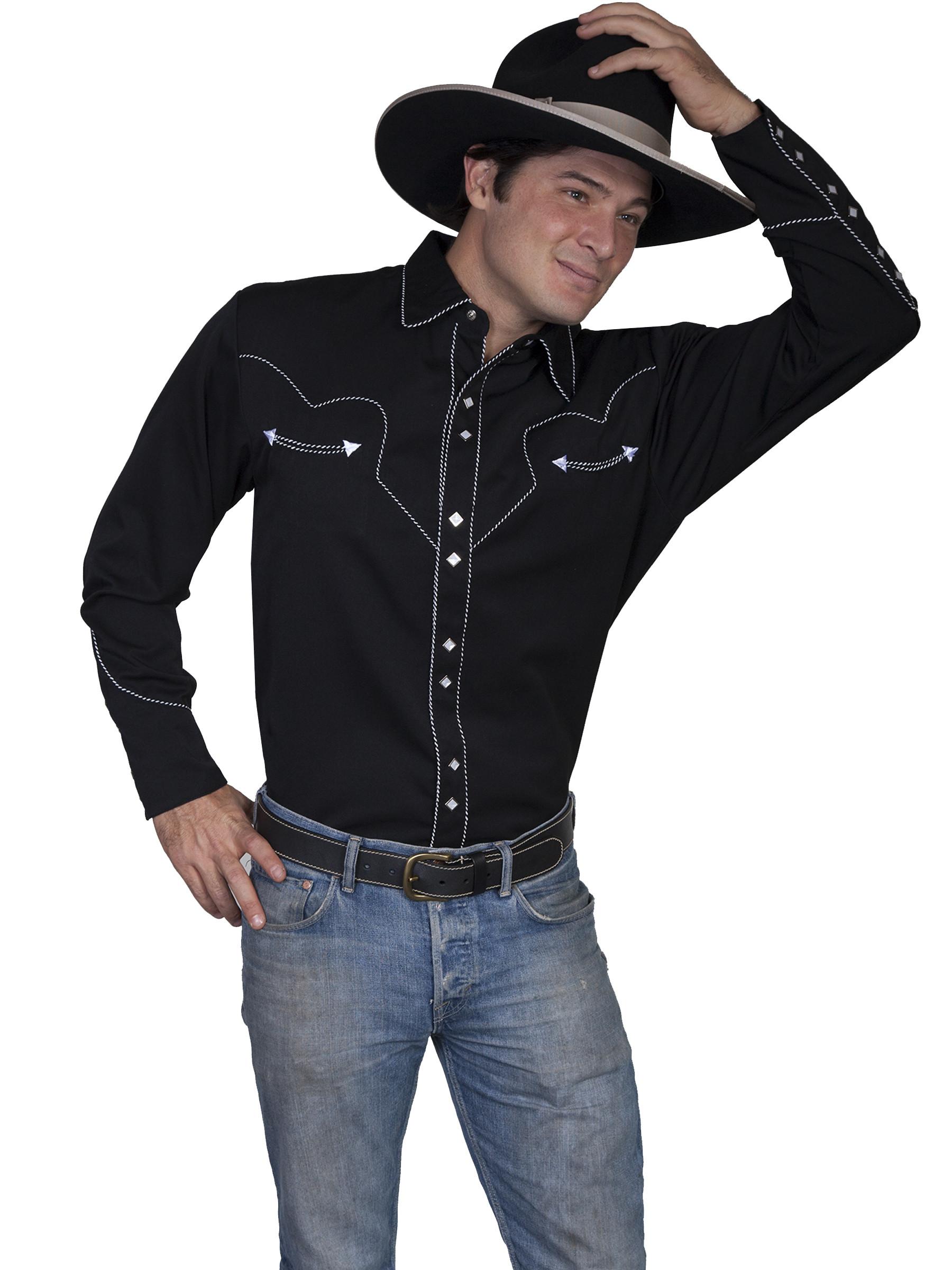 Pearl Snap Shirts For Men