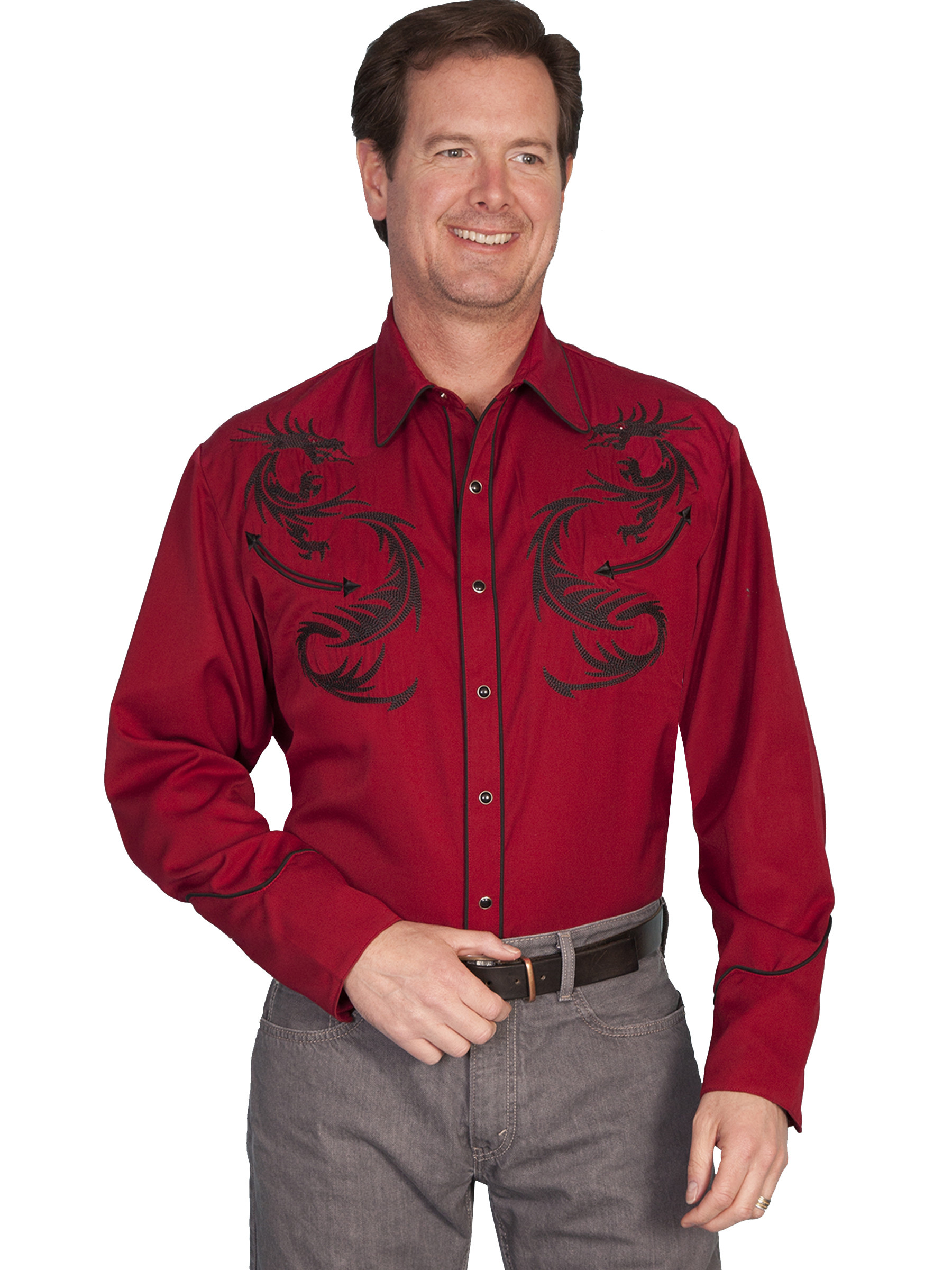 Burgundy Shirt Mens