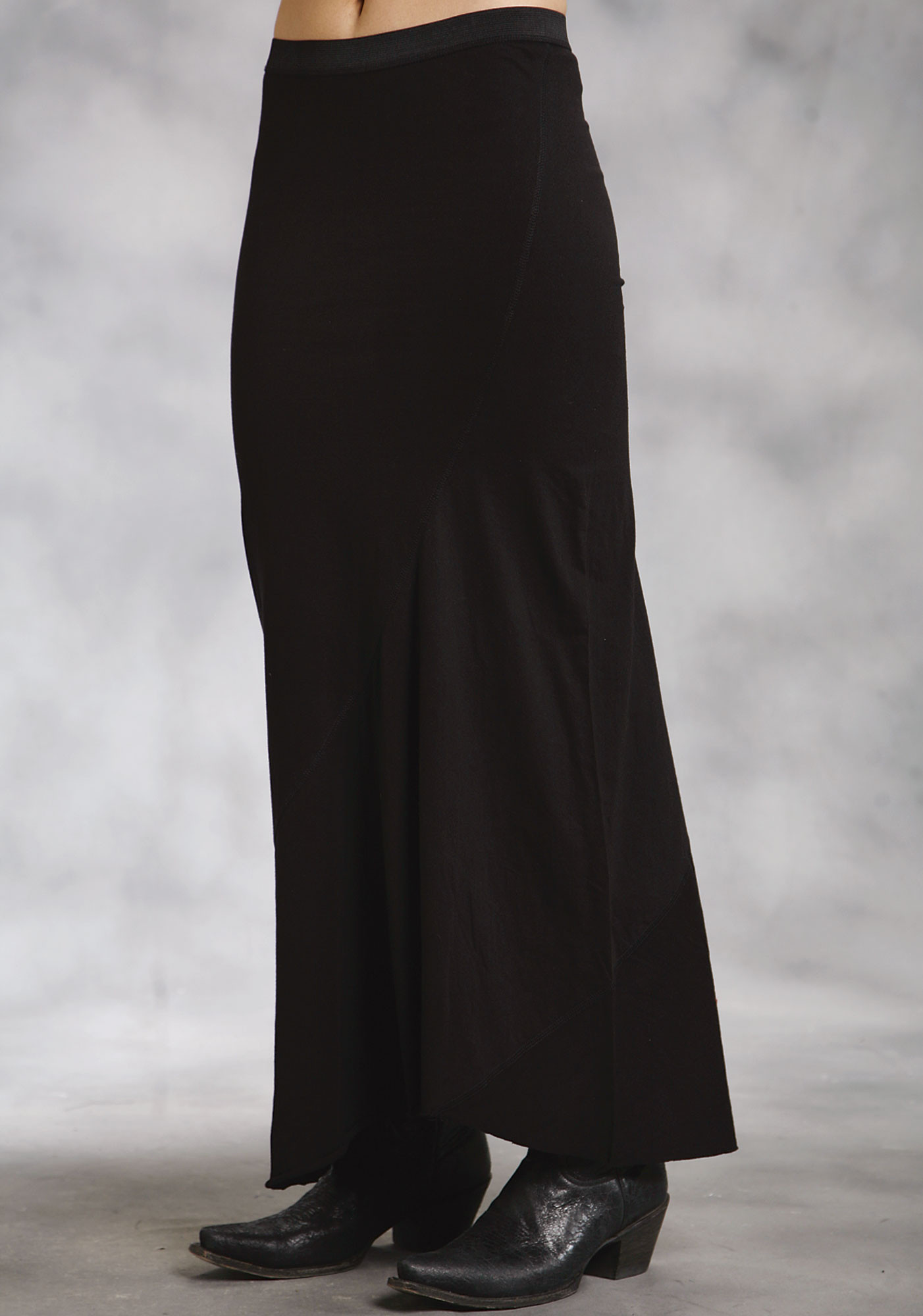 Roper® Black A-Line Cotton Rayon Long Western Skirt