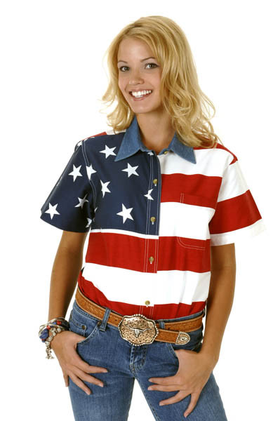 American flag clothing for women