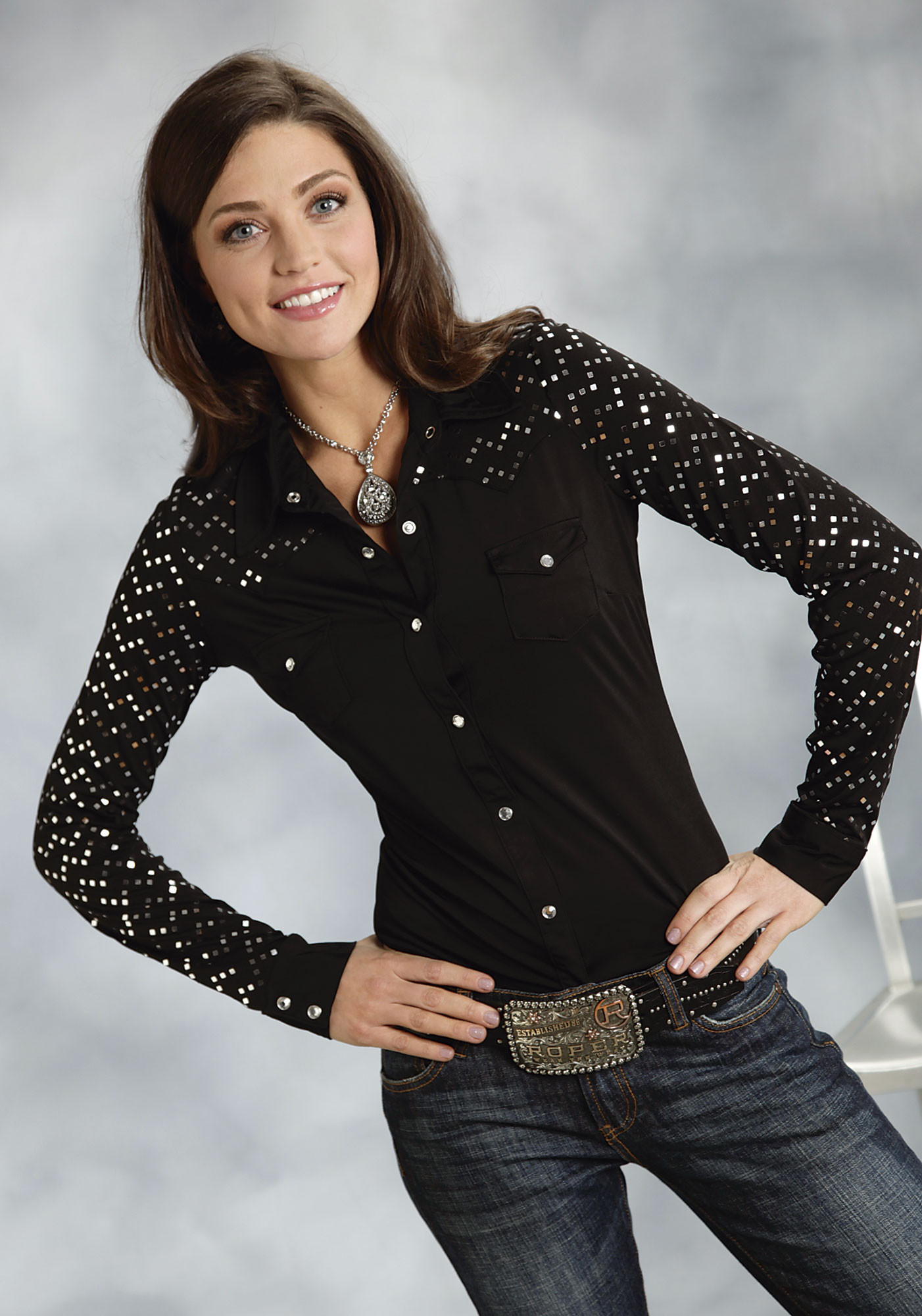 Womens Western Show Blouses 61