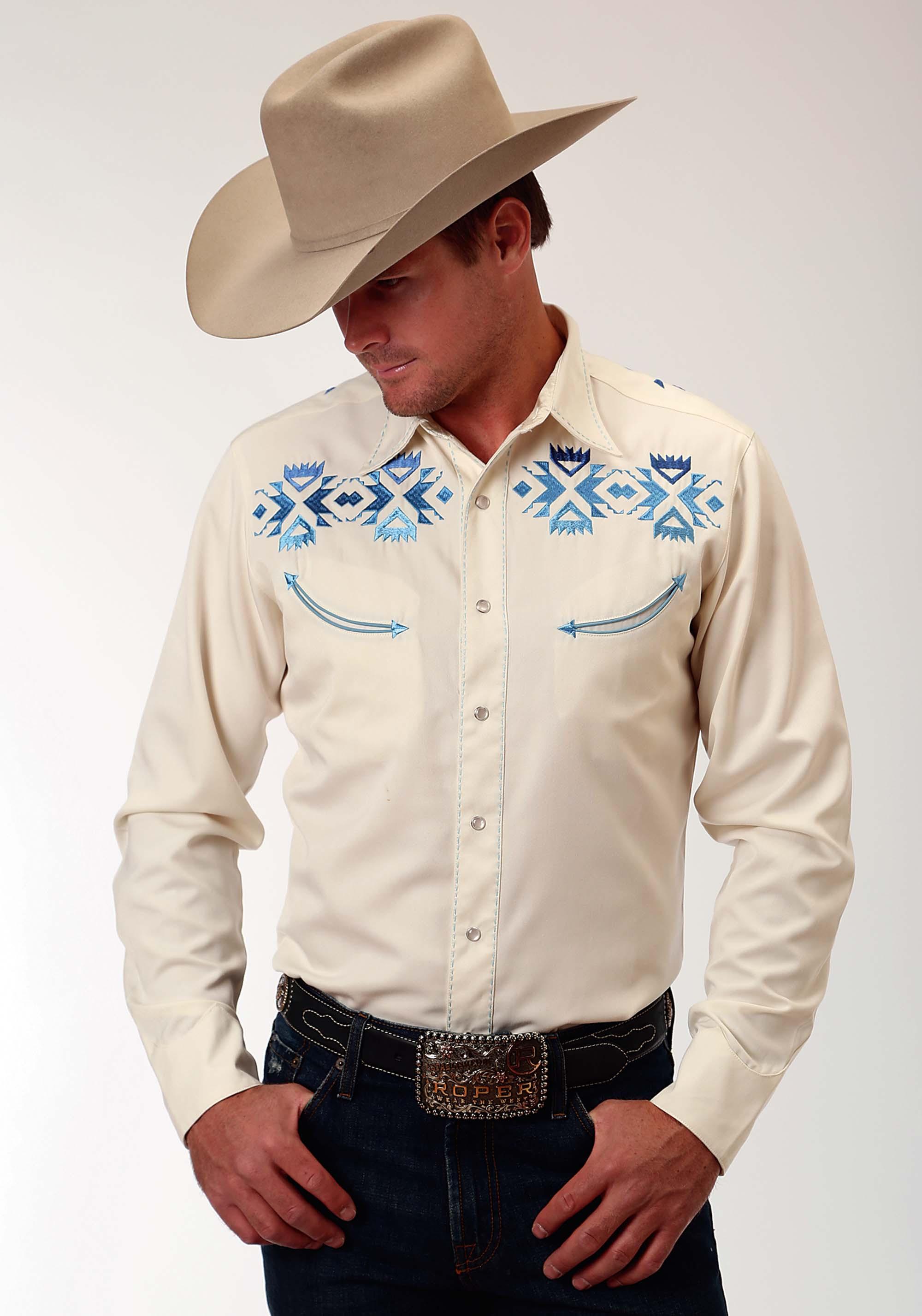 Mens Dress Shirt With Contrast Trim