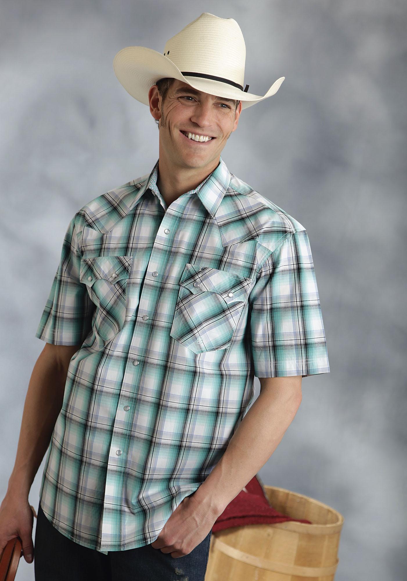 Mens big tall short sleeve cowboy shirt tulsa for Mens tall western shirts