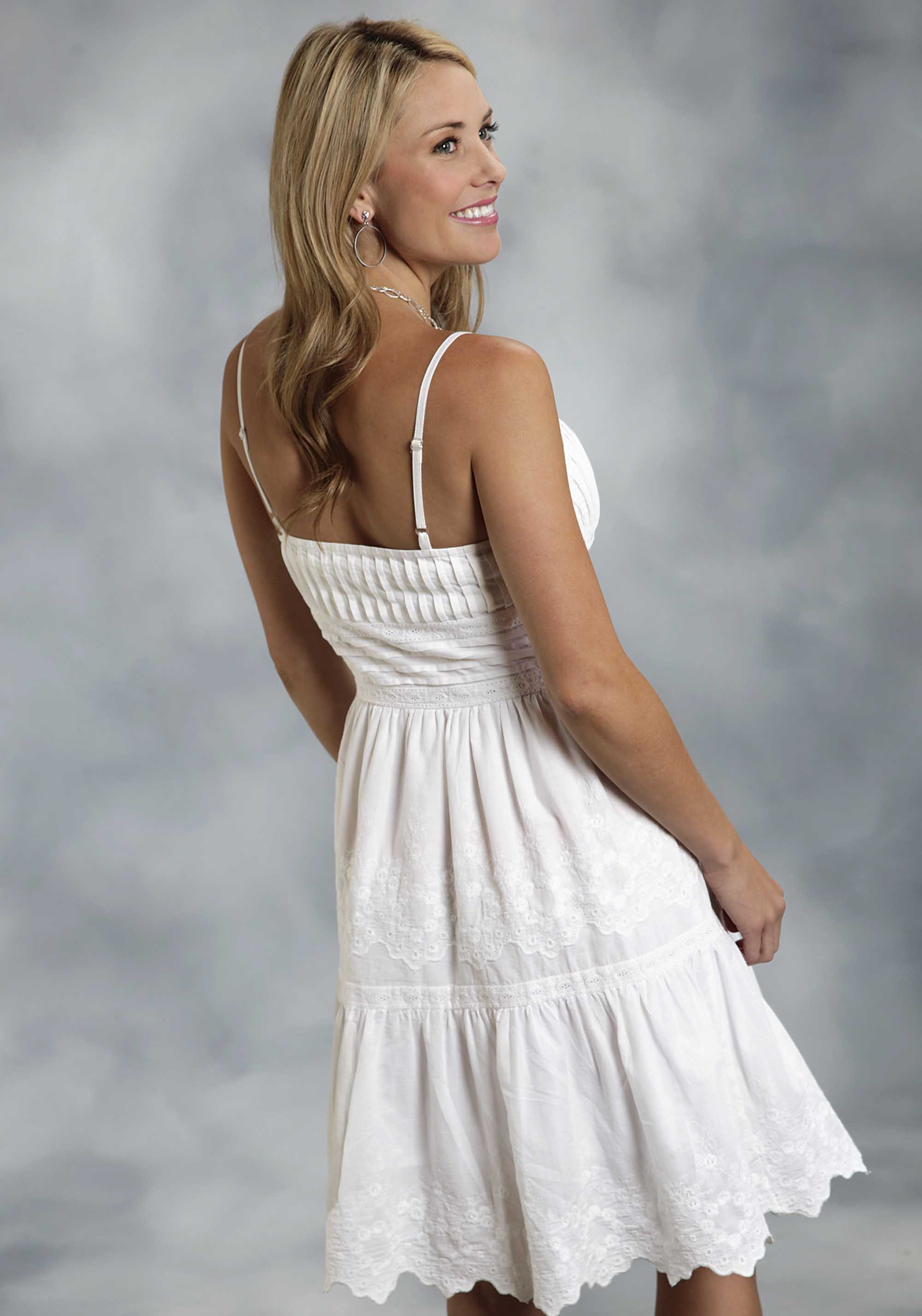 Roper 174 Women S White Cotton Eyelet Embroidered Western