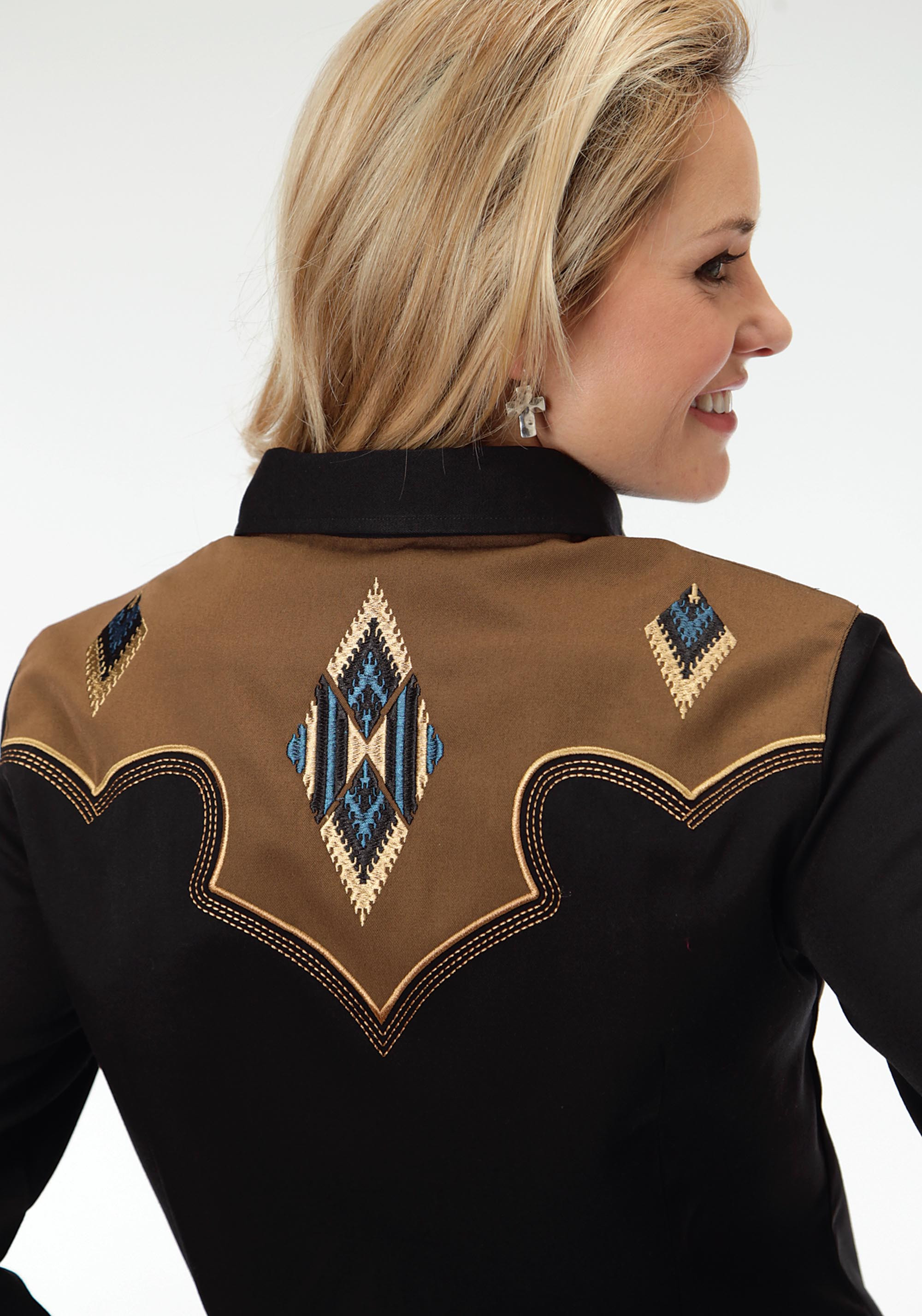 Womens Embroidered Western Shirt Iron Horse