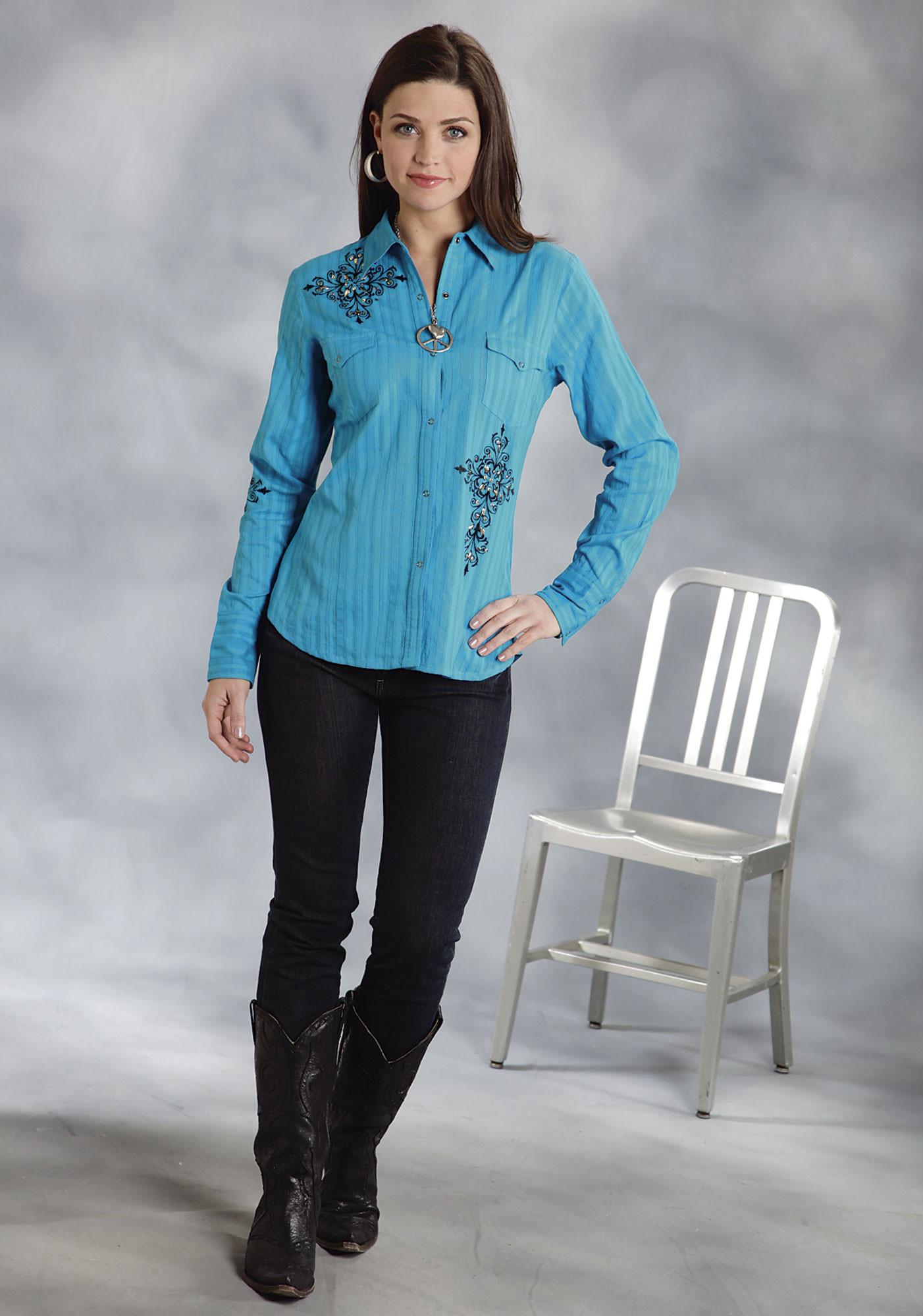 Womens Black Western Shirt