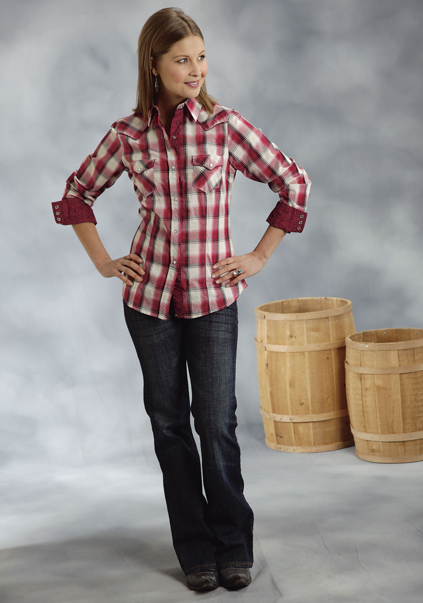 Red Plaid Shirts for Women