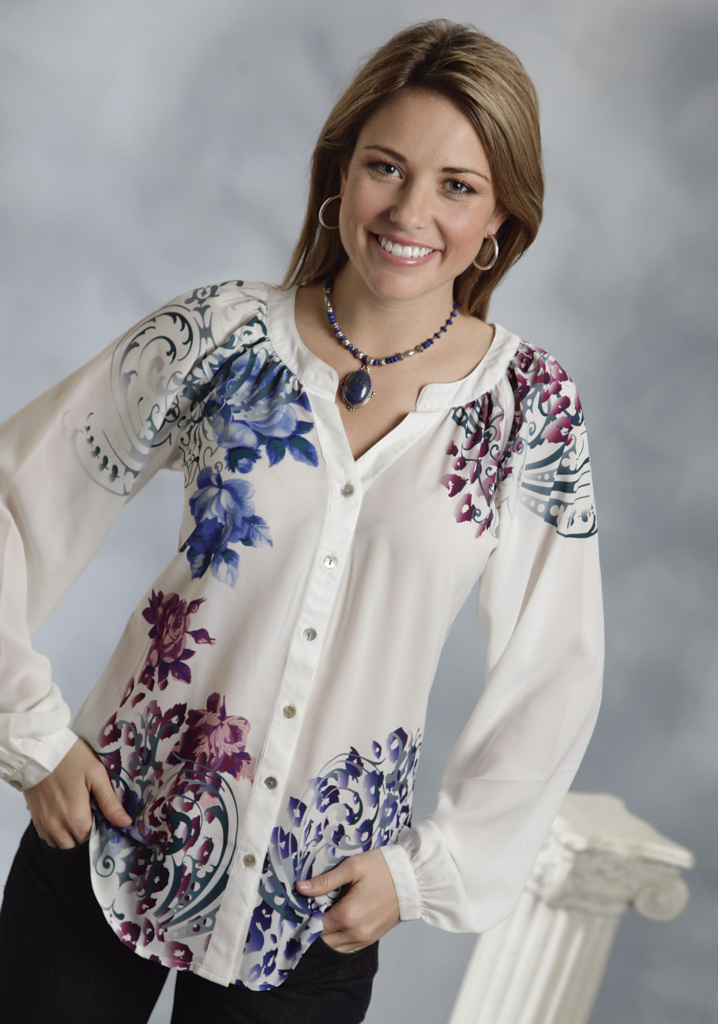 Collection Floral Blouse Womens Pictures - Reikian