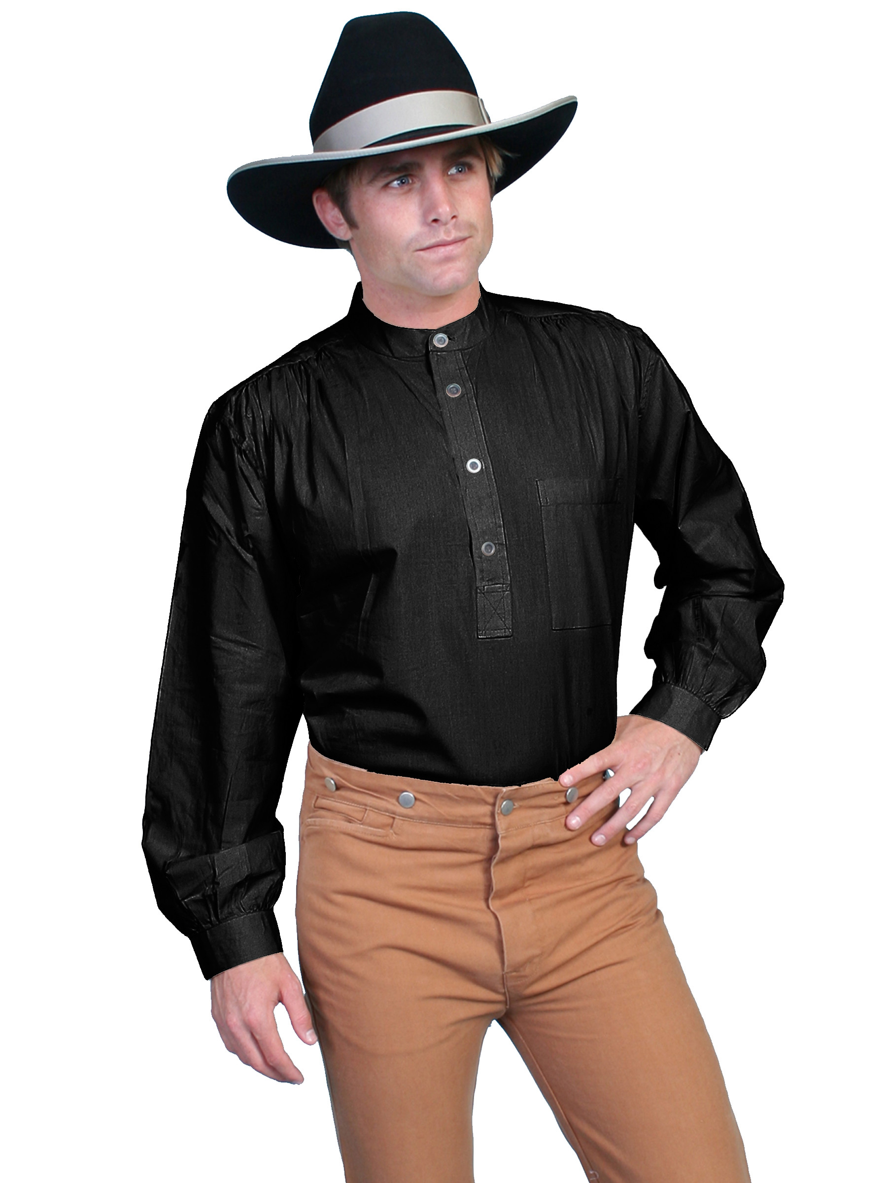 scully u00ae mens pullover ls old west work shirt