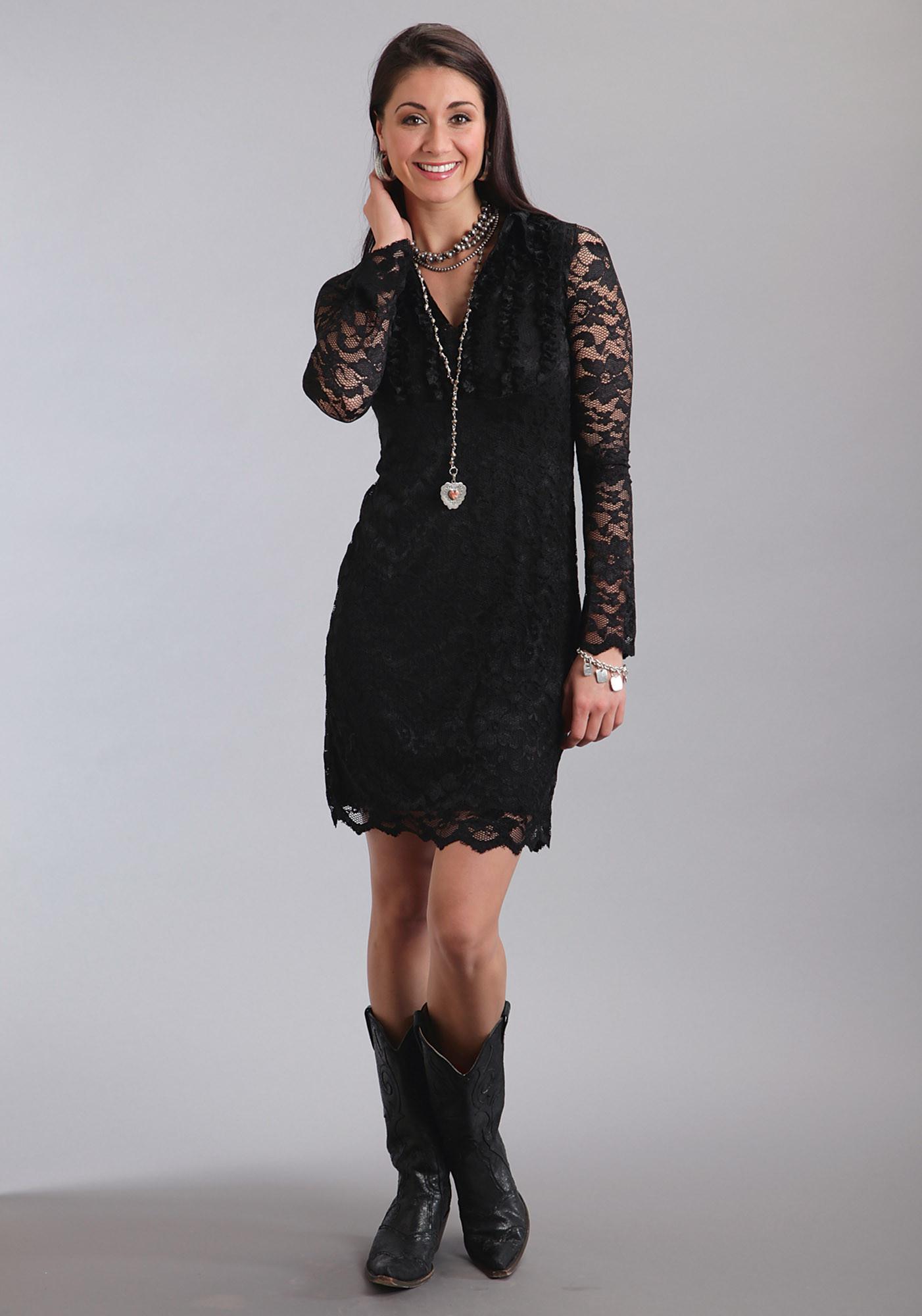 Stetson Womens Western Dress Onyx Lace