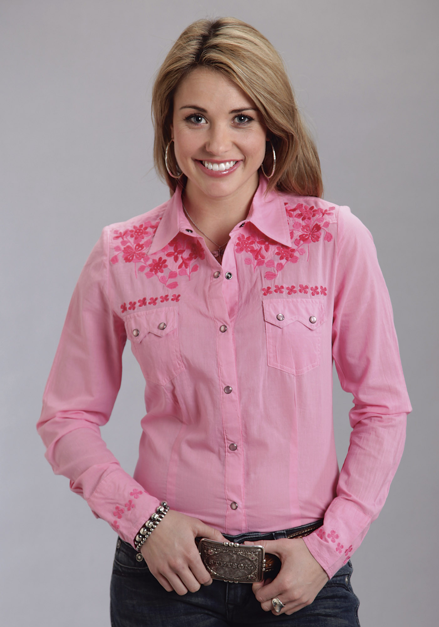 Stetson Womens Embroidered Western Shirt - Honey