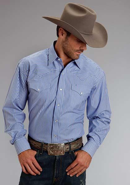 stetson mens western shirt