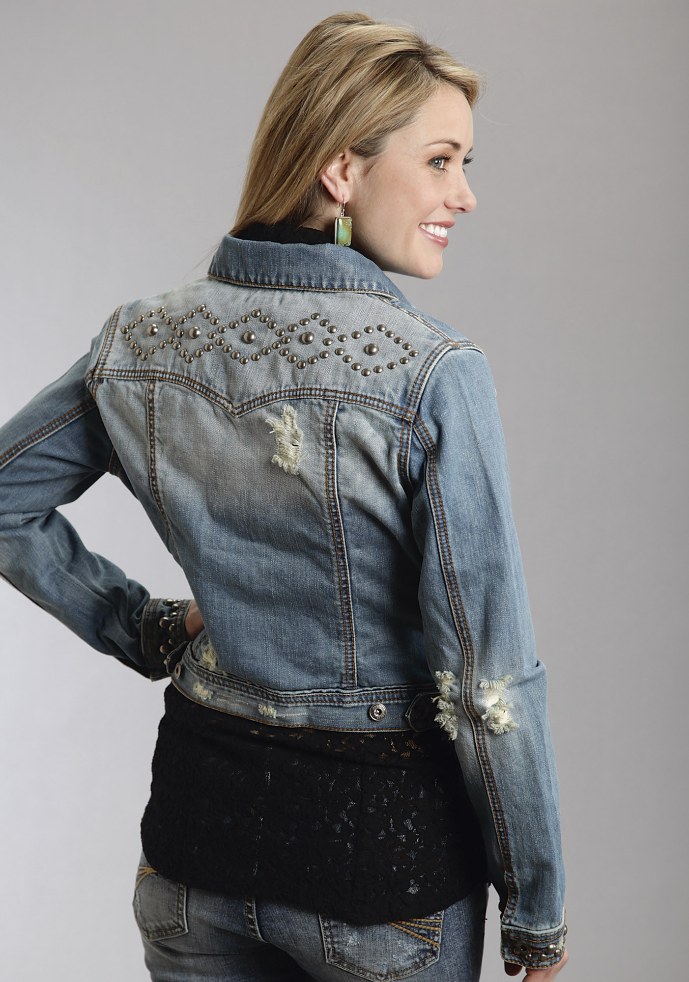 Denim Vest For Women Studded