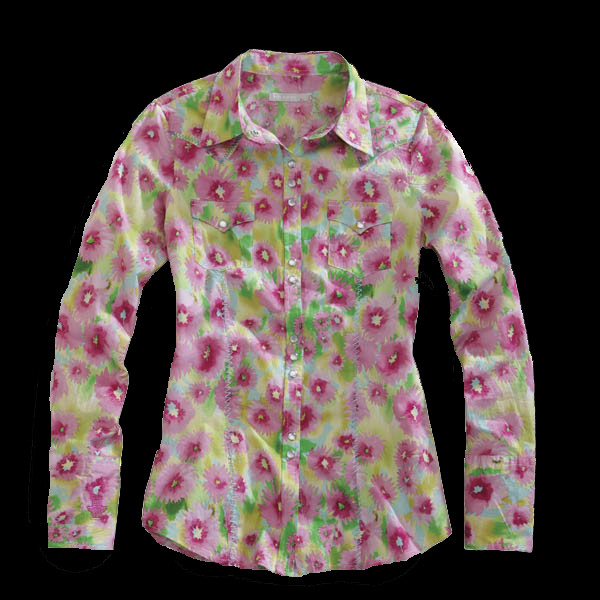 Tin Haul® Women's Pink Floral Long Sleeve Snap Western Shirt