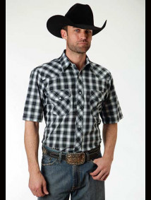 Short-Sleeve Western Shirt ~ Silver mine