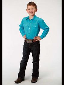 Boys Turquoise Western Shirt