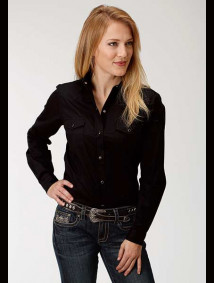 Women Western Shirt ~ Black