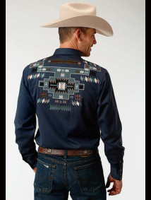 Embroidered Old West Shirt ~ NAVAJO