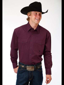 Big & Tall Western Shirt ~ Solid Wine