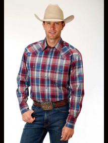 Big & Tall Western Shirt ~ Flag Plaid