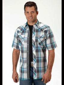 Mens Short-Sleeve Western Shirt ~ Aviator