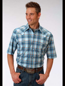 Short-Sleeve Western Shirt ~ Checkers