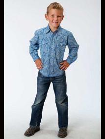 Boys Western Shirt - Stitch Line Paisley