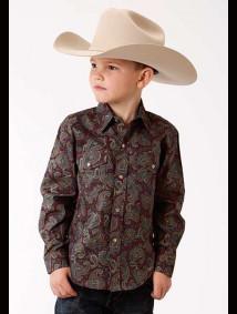 Boys Paisley Western Shirt - Vanguard