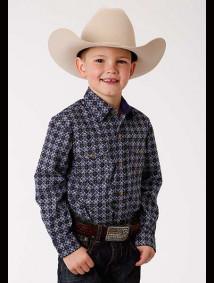 Boys Purple Western Shirt - Foulard