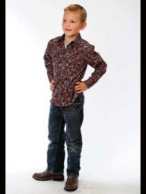 Boys Western Shirt - Western Paisley