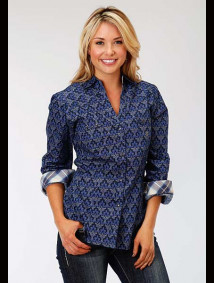 Women Western Snap Shirt ~ Victorian Arches