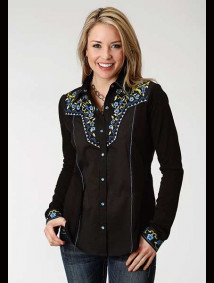 Women Western Shirt ~ Blue Angel