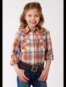 Girls Western Shirt - FALL PLAID