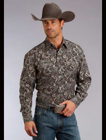 Stetson Western Shirt ~ TOBACCO PAISLEY