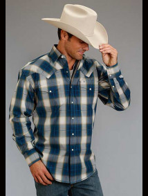 Stetson Western Shirt ~ TEAL OMBRE