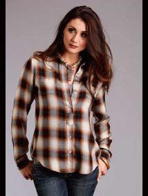 Women Western Shirt ~ BAROQUE OMBRE PLD
