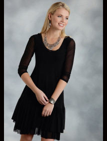 Womens Western Dress - Flounce