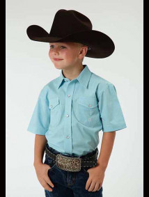 Boys Short Sleeve Western Shirt - Boone
