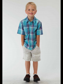 Boys Short Sleeve Western Shirt - High Noon
