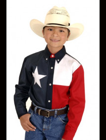 "Boys Western Shirt - ""Texas"""