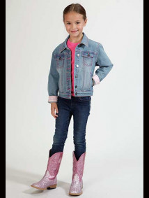 Girls Western Jacket - Bubblegum