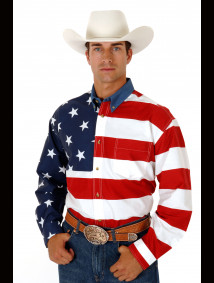 Mens Western Shirt - Patriot