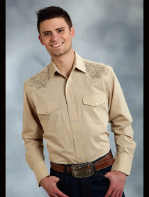 Mens Embroidered Western Shirt - Buckeye