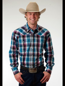 Mens Cowboy Shirt - Blueberry Hill