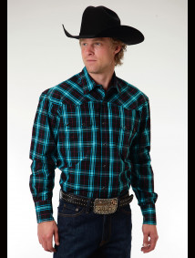 Mens Cowboy Shirt - Bluestone