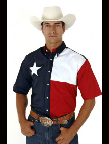 "Mens Short Sleeve Western Shirt - ""Texas"""