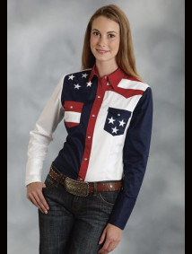 Womens Western Shirt - Patriot IV